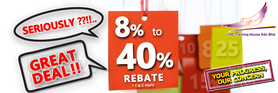 WOW!! Up To 40% Rebate for training..